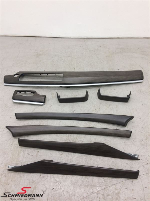 """K05031  Interior molding set """"S4CBAEDELHOLZAUSFFINELINE NATUR"""" for doors/center console and dashboard"""