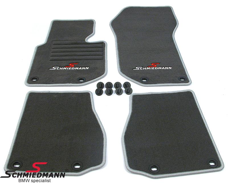 BMW E36 Fussmatten vorne/hinten original Schmiedmann -Sport Edition- grau
