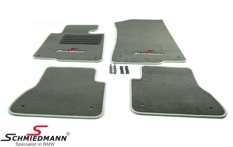 BMW E46 Fussmatten vorne/hinten original Schmiedmann -Sport Edition- grau