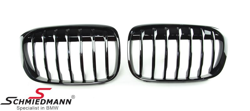 Kidney set high gloss black