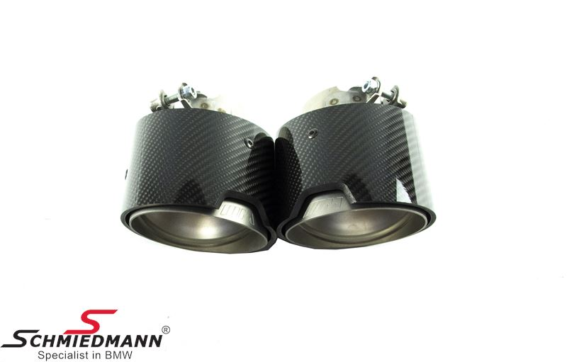Tailpipe cover set carbon original BMW -///M-Performance- (Only for USA models)
