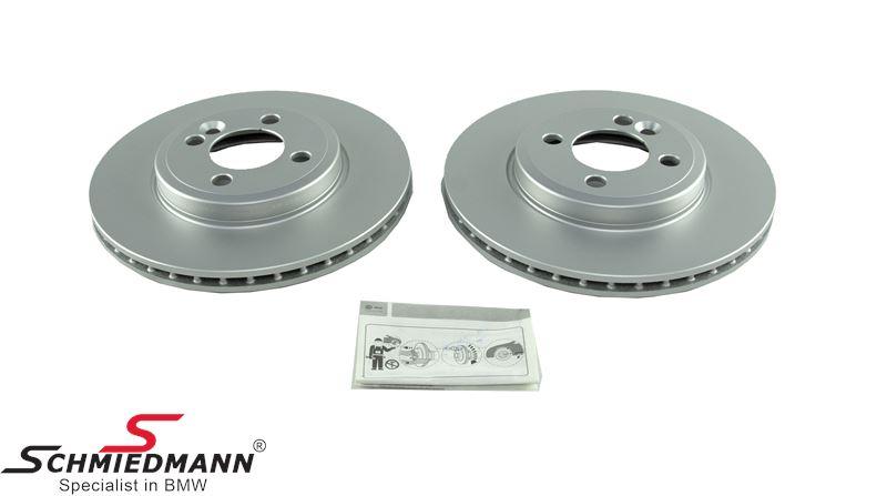 Bremseskiver for 280X22MM - ventileret - Hella-Pagid Germany