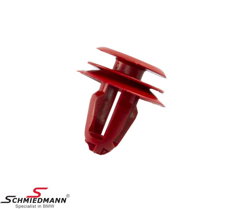 Clamp for door upholstery, red