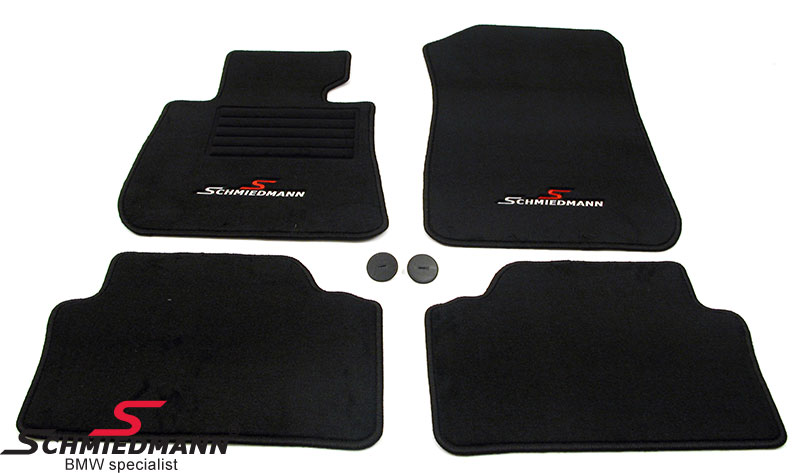 Floormats front/rear original Schmiedmann -Sport Edition- black