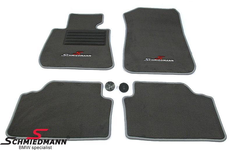 Fussmatten vorne/hinten original Schmiedmann -Sport Edition- grau