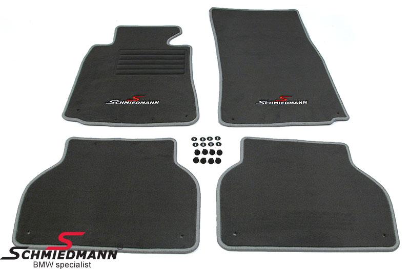 BMW E39 Fussmatten vorne/hinten original Schmiedmann -Sport Edition- grau