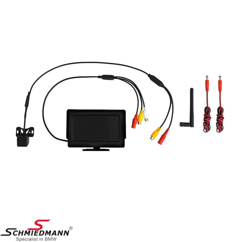 Reverse Camera universal wireless rear view system 4,3 Inch color monitorretrofit kit