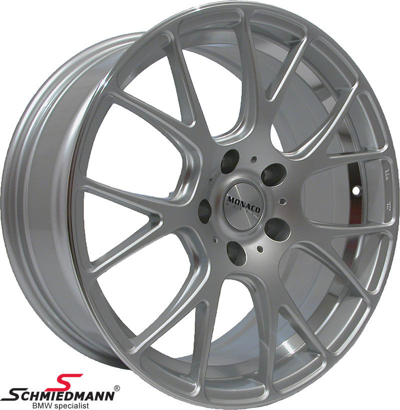 "19"" -Competition- hyper silver rim 9,5X19 (fits only rear)"
