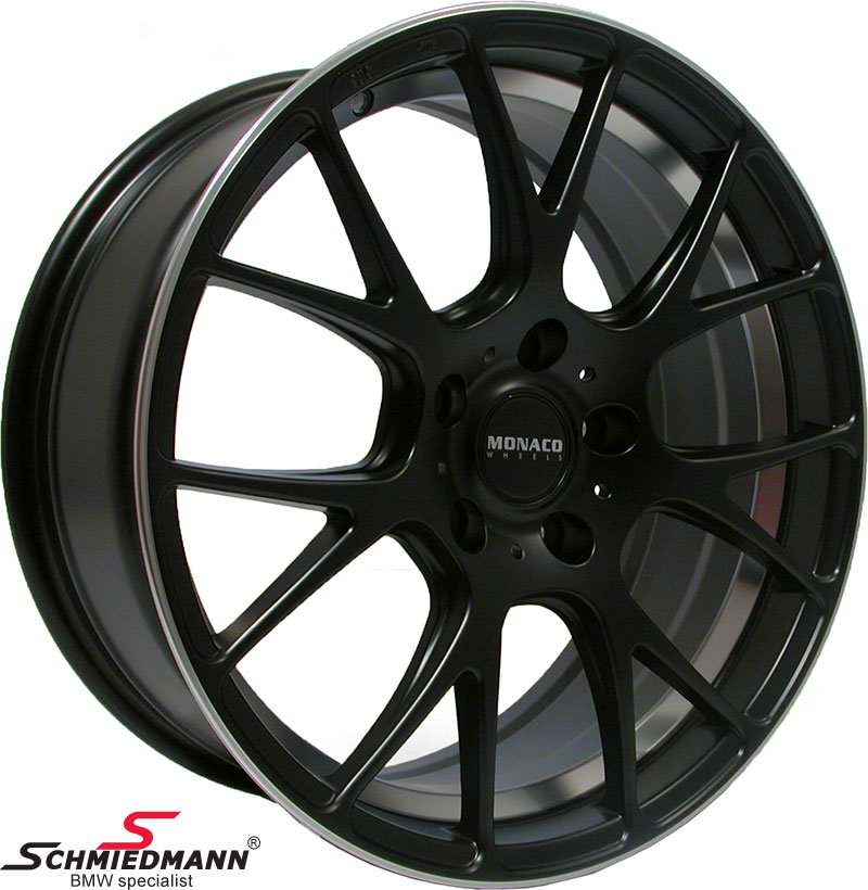 """19"""" -Competition- deep black rim 9,5X19 (fits only rear)"""