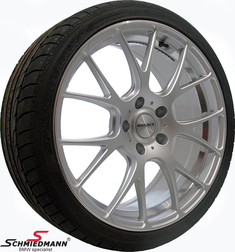 "19"" -Competition- rims hyper silver with 245/35/19"
