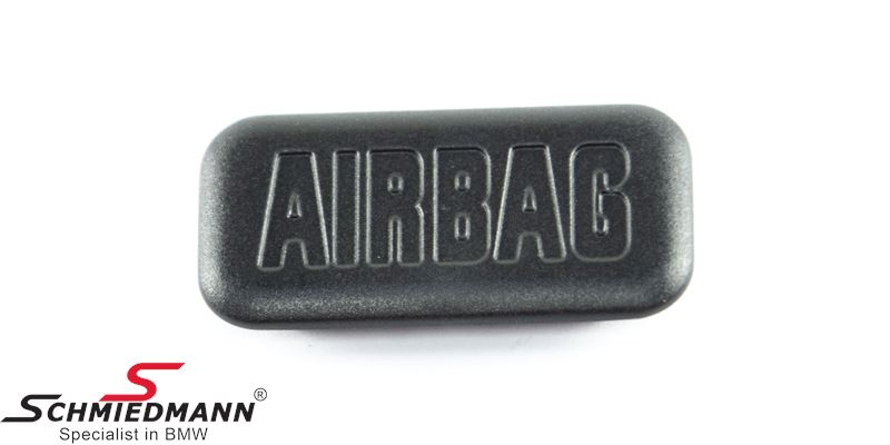 """Cover """"Airbag"""" for column cover, black"""