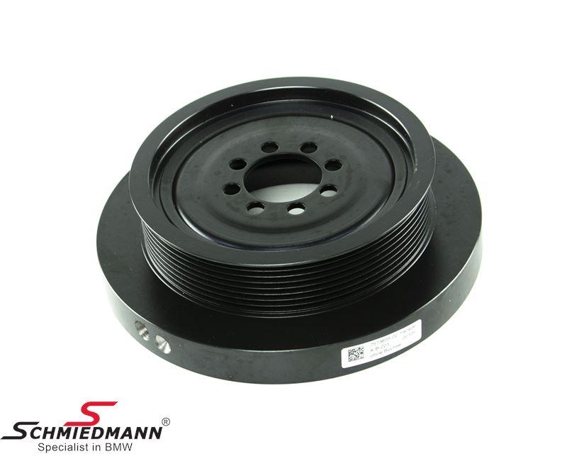 Vibration damper/belt pulley on the crankshaft for the V-belt