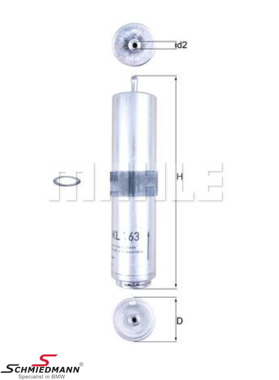 Fuel filter diesel - original Mahle Germany