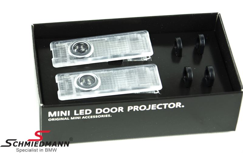 Logo LED door projector kit for the frontdoors original BMW inclusive 3 logos BMW - ///M - X-Drive
