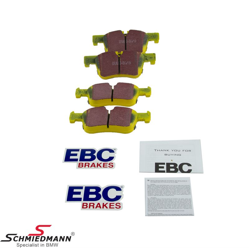 Racing brake pads front EBC yellow stuff (for road and racetrack)