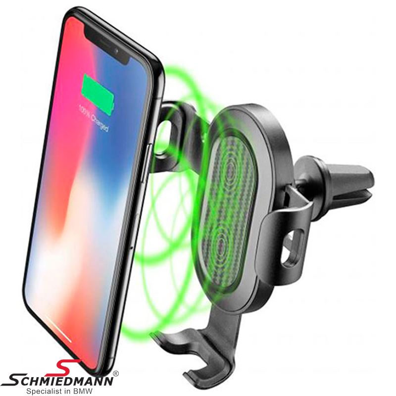 "Mobile holder with ""Fast charge"" wireless charger - For air nozzle"