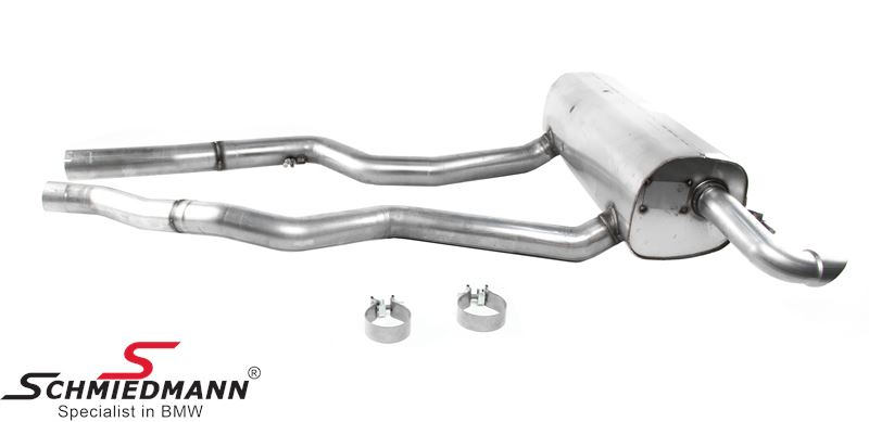 Sport rear silencer stainless steel original BMW -///M-Performance- (For USA models only)