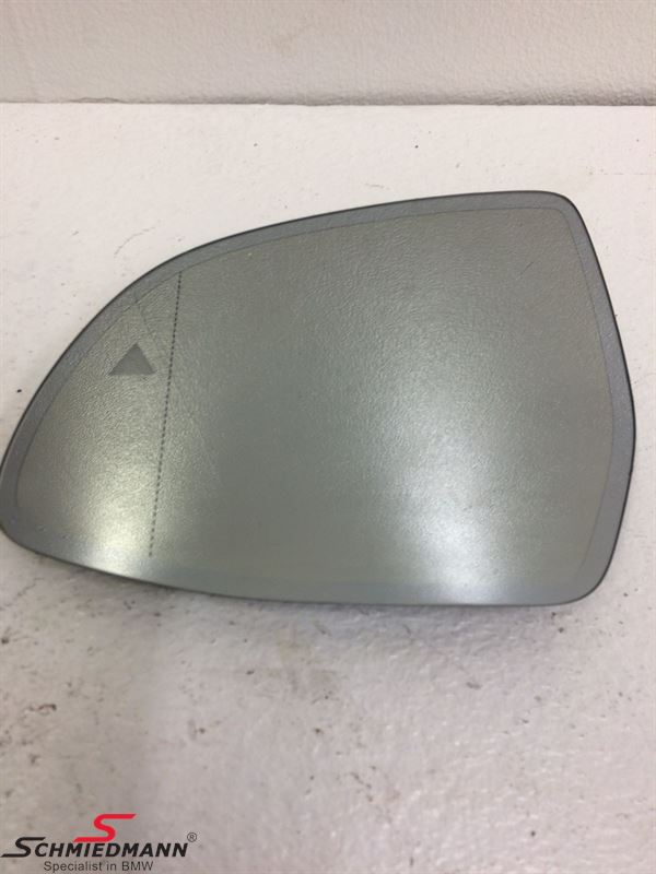Side-view mirror glass wide-angle and heated L.-side (For models with Driving assistant S5ASA/S5AUA)