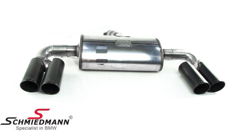 Supersprint race bagpotte med sorte afgange H.+V.-side Ø80MM