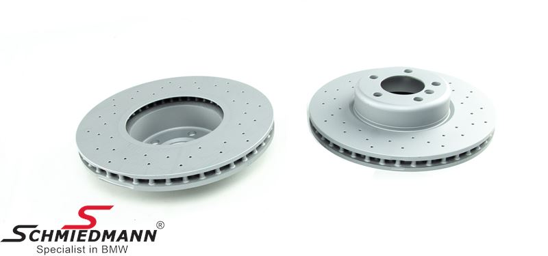 Racing brake discs front set 340X30MM (M-Sport) ventilated with holes Zimmermann