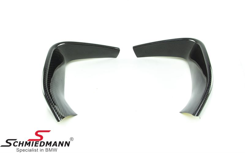Frontspoiler lip set -DEMO- genuine carbon for M4 frontspoiler (NOTE: Minor defects, see pictures)