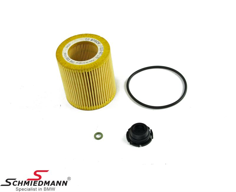 Oilfilter - original Bosch Germany (Only fits on models with alu filter housing)