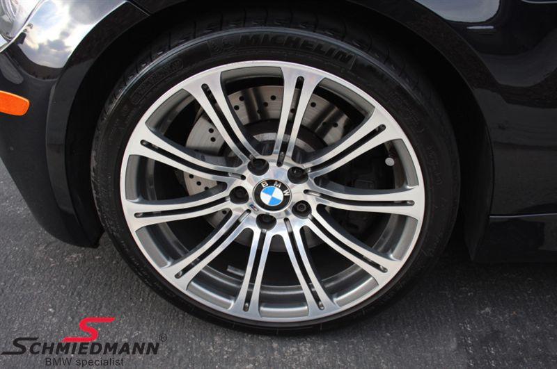 """BMW 36112283556 36112283556 36 11 2 283 556 / 36-11-2-283-556 36112283556 36 11 2 283 556  19"""" M3 M-Doppelspeiche 220 fælge 9,5X19 smedet poleret (original BMW)(passer kun bag)"""