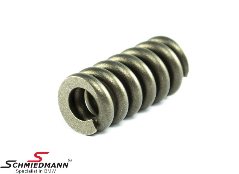 Pressure spring for exhaust