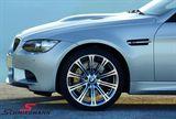 """36112283555K 36112283555 36 11 2 283 555  19"""" 8,5+9,5x19 alufælge M3 M-Doppelspeiche 220 smedet poleret m.245/40+265/35/19 (original BMW)"""