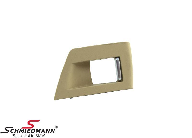 Trim for power window switch R.-side, beige