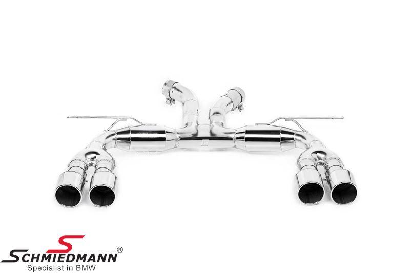 4 rør Eisenmann sportsudstødning 4X102MM rustfrit-stål rørhaler (E-mærket)