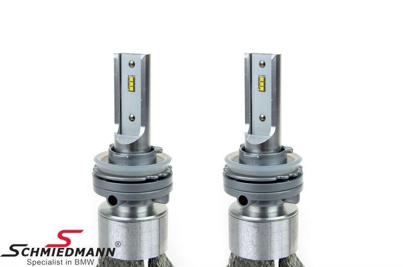 LED bulb set 6000K H8/H9/H11 50W Slim series