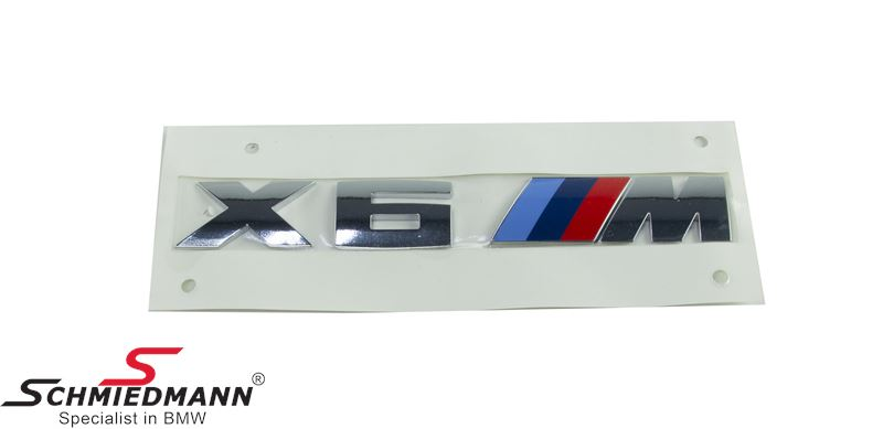 Emblem X6 ///M for the trunk lid