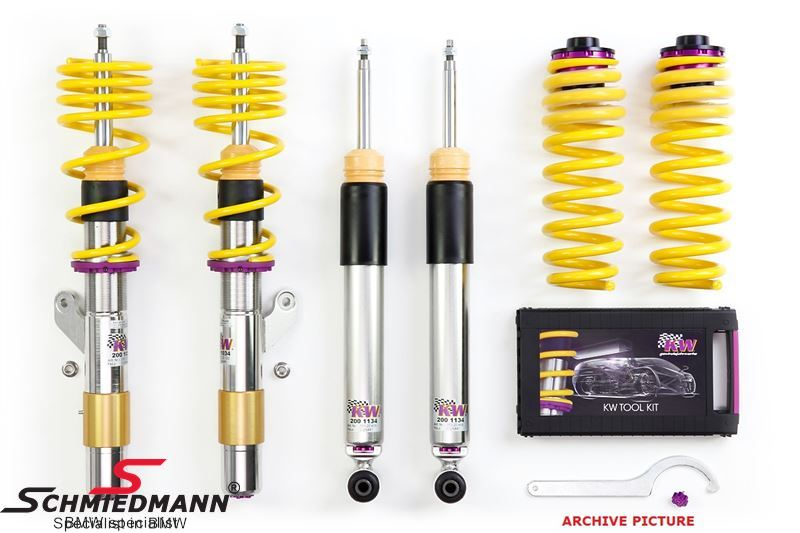 KW Suspensions Variant 3 Coilover kit with rebound adjustment, front/rear 40-60 mm (with Tüv)