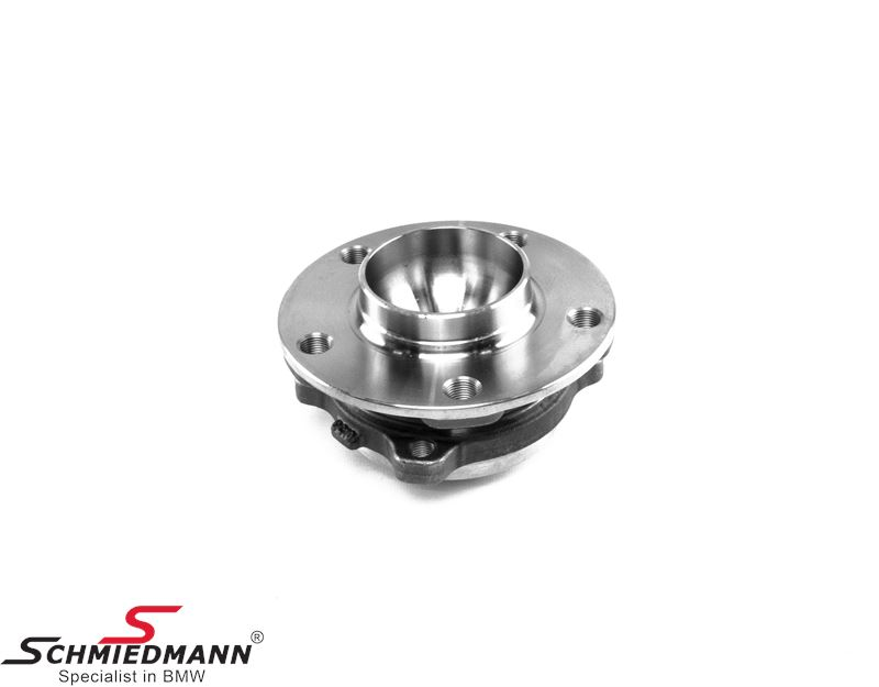 Wheel hub with bearing front