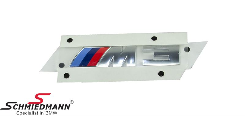 Emblem ///M3 for tailgate