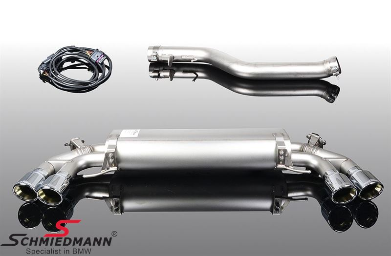 AC Schnitzer sport rear silencer with quad chrom tailpipes (EC Type Approval)