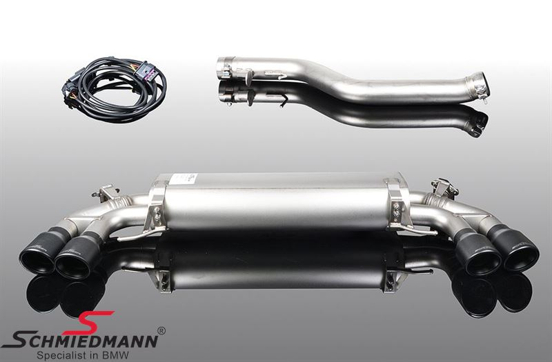 AC Schnitzer sport rear silencer with quad black tailpipes (EC Type Approval)