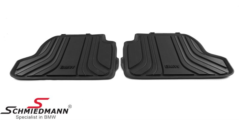 "Rubber floormat set ""All weather"" antracite rear"