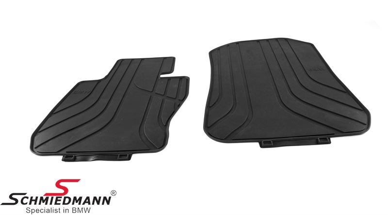 Rubber floormat set front