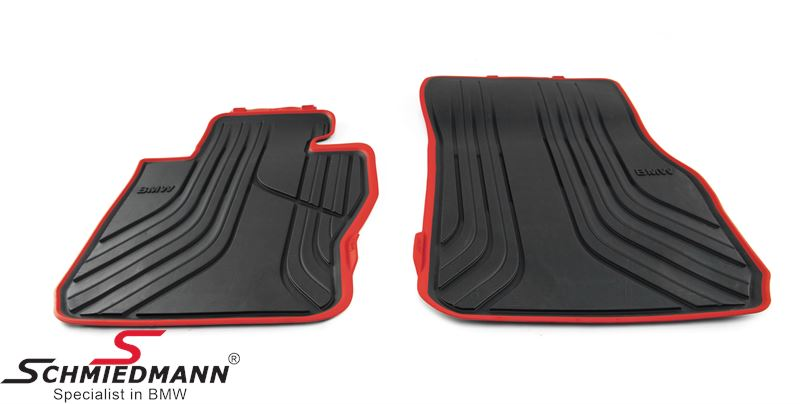 "Rubber floormat set ""All weather"" -Sport- anthracite front"