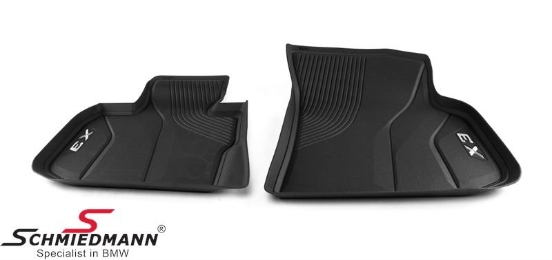 Floormats -Floor Liner- front, black - original BMW