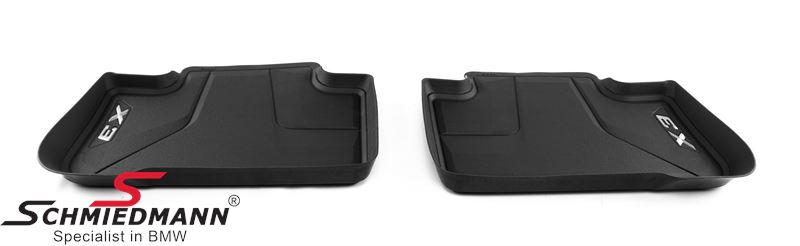 Floormats -Floor Liner- rear, black - original BMW