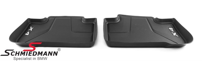 Lattiamatot taakse -Floor Liner-, black - original BMW
