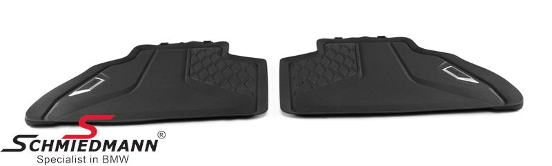 """Rubber floormat set """"All weather"""" black rear (for 2. seat row)"""
