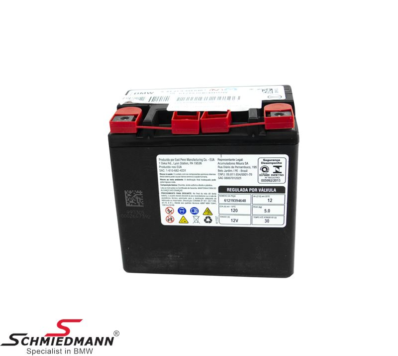AGM battery original BMW 12AH