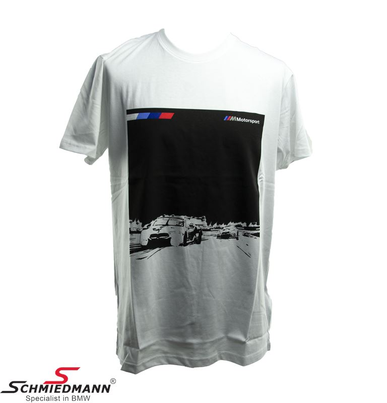 T-shirt ///M Motorsport sort med grafik, herre str. S