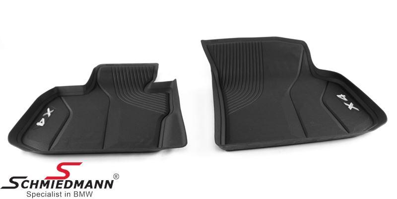 Lattiamatot eteen -Floor Liner-, musta - original BMW