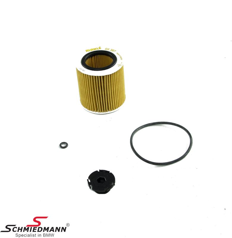Oilfilter - original Mahle Germany (Only fits on models with alu filter housing)