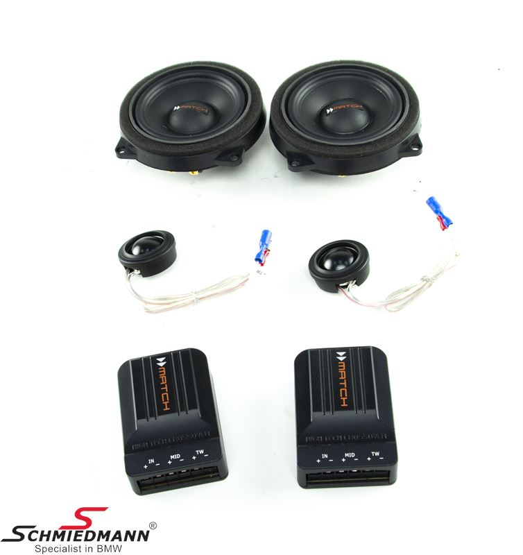 "MATCH 2-WAY Component system set 4"" midrange & 1"" tweeter (front)"